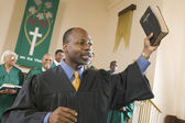 Preacher Preaching Gospel — Stock Photo