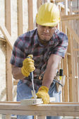 Construction worker at work — Stock Photo