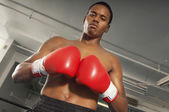 Boxer in gym — Stock Photo