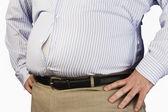Obézní muž — Stock fotografie