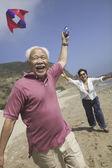Létající drak asijský pár — Stock fotografie