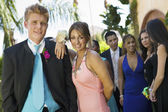 Teenage Couple at Social Dance — Stock Photo