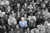 Group applauding together — Stock Photo