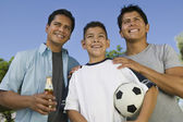 Boy with two brothers — Stock Photo