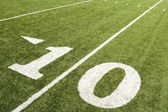 Ten yard line — Stock Photo
