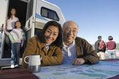 Three-generation asian family — Stock Photo