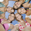 Young women in circle — Stock Photo