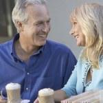 Couple Having Coffee Drinks — Stock Photo #33800093