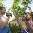 Mother Videotaping Family — Stock Photo