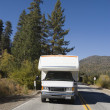 Stock Photo: RV Driving on Mountain Road