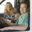Family in RV on Vacation — Stock Photo