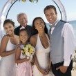 Bride and groom with family — Stock Photo #33800985