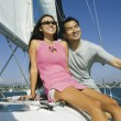 Stock Photo: Sailing Couple
