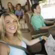 Family in RV — Stock Photo