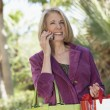 Woman Talking on Cell Phone — Stock Photo #33801689