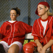 Softball players — Stock Photo