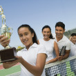 Tennis Family — Stockfoto