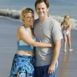 Couple on Beach — Stockfoto