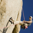 Foto Stock: MRappelling from Cliff