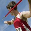 Male athlete about to throw javelin — Stock Photo #33803347