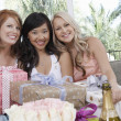 Women with presents at wedding shower — Stock Photo