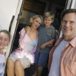 Family on Vacation in RV — Stock Photo