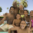 Children with parents and grandparents — Stock Photo