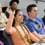 Student raising hand — Stock Photo #33803507