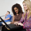 Students Using Laptop — Stock Photo #33803871