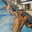 Winning Swimmer — Stock Photo #33804057