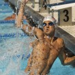 Winning Swimmer — Stock Photo