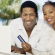 Couple making online purchase — Stock Photo #33804141