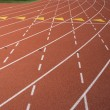Lane marks on running track — Stock Photo #33804205