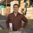 Supervisor with clipboard — Stock Photo