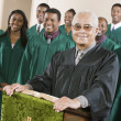 Minister with Gospel Choir — Stock Photo