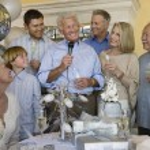 Man celebrating start of retirement — Stock Photo #33805067