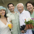 Happy Japanese family  — Stock Photo