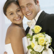 Loving newlywed couple — Stockfoto #33805279