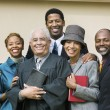 Minister with Family in church — Stock Photo