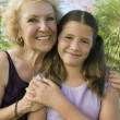 Girl with Grandmother — Stock Photo