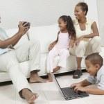 Man Videotaping Family — Stock Photo #33805413