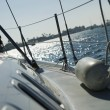 Starboard on sailboat — Stock Photo