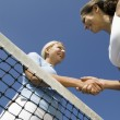 Female Tennis Players shaking hand — Stock Photo