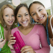 Girls Shopping at Boutique — Stock Photo