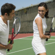 Tennis Player Getting Instruction — Stockfoto #33806429