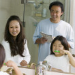 Family in Bathroom — Stock Photo