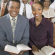 Stock Photo: Young couple with Bibles