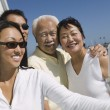 Family on Sailboat Posing for Picture — Stock Photo #33806807