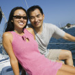 Couple sailing — Stock Photo