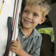 Cute Boy in RV — Stock Photo